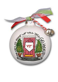 Magnolia Lane 3.5-in. Virginia Tech My House Ball Ornament