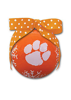 Magnolia Lane 4-in. Clemson University Snowflake Ball Ornament