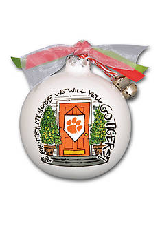 Magnolia Lane 3.5-in. Clemson University My House Ball Ornament