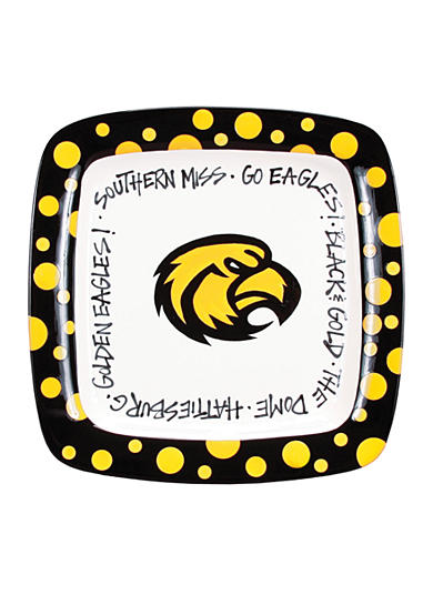 Southern Miss Golden Eagles Square Plate