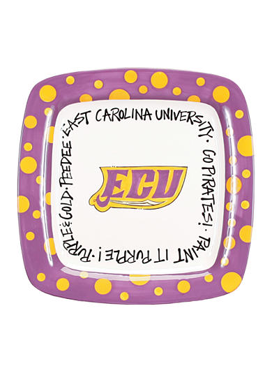 East Carolina Pirates Square Plate