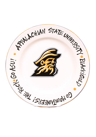 Magnolia Lane Appalachian State Mountaineers Round Plate