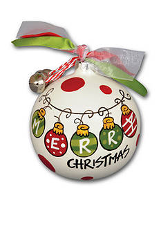 Magnolia Lane 3.5-in. 'Merry Christmas' Ornament