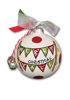 Magnolia Lane 3.5-in. 'Merry Christmas Y'all' Flag Ball Ornament