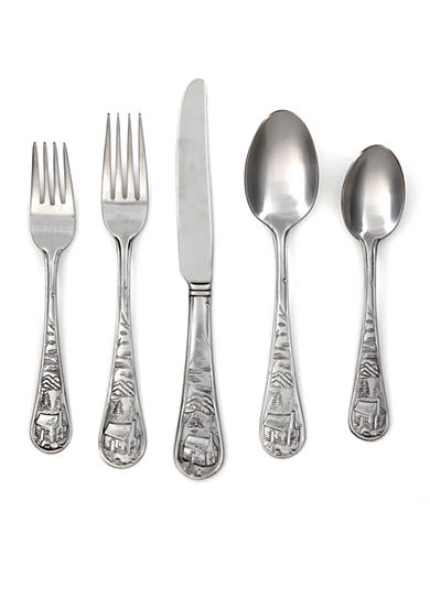 Cambridge Silversmiths Cabin Satin 20-Piece Flatware Set