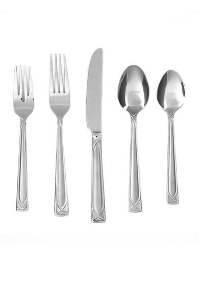 Cambridge Silversmiths Crossroad Sand 20-Piece Flatware Set