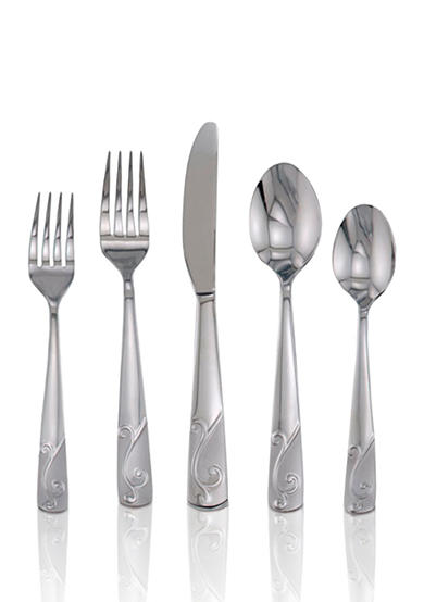 Cambridge Silversmiths Tula Frost 20-Piece Flatware Set