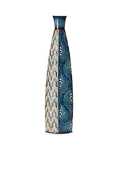 Elements 24-in. Blue Peacock Vase