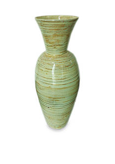 Elements 16.5 inch Bamboo Spun Vase