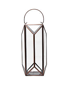 Studio Nova 14-in. Bronze Diamond Patter Lantern