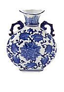 Bombay 11-in. Blue Tobacco Flower Vase