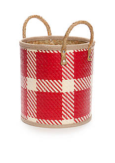 Elements Palm Leaf Woven Oval Basket