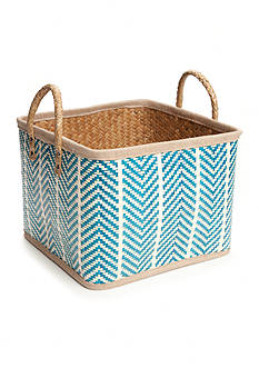 Elements Small Blue Palm Leaf Basket