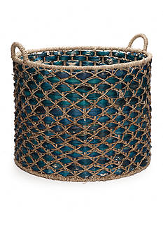 Elements 22-in. Water Hyacinth Oval Basket