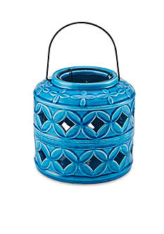 Elements 6.7-in. Barrel Ceramic Lantern
