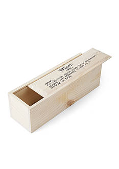 Elements 13.25-in. Sliding Wood Wine Box