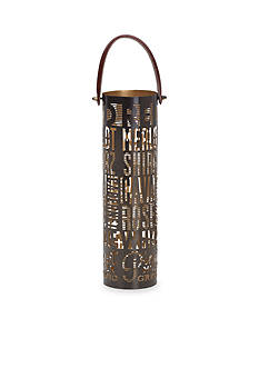 Elements 14-in. Metal Wine Bottle Holder
