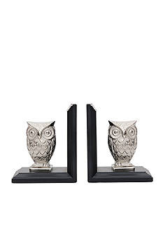 Bombay™ Nickel Owl Book End Set