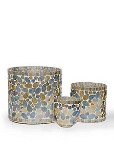 Bombay 3-Piece Glass Mosaic Votive Candle Holder Set
