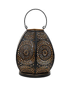 Elements Iron Cutout Lantern