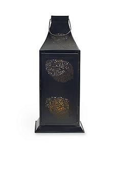Elements 16-in. Iron Leaf Lantern