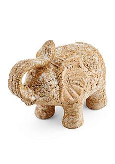 Bombay Beige Ceramic Elephant Figurine