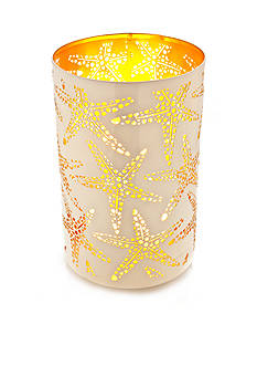 Elements 10-in. Starfish Design Metal Luminary