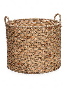Elements 19-in. Water Hyacinth Beige Basket