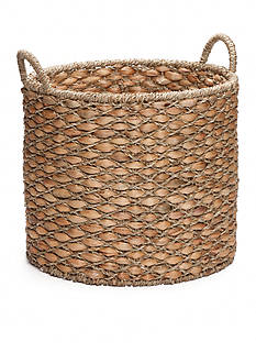 Elements 17-in. Water Hyacinth Beige Oval Basket