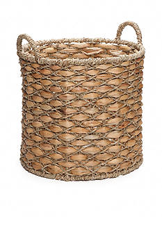 Elements 15-in. Water Hyacinth Beige Oval Basket
