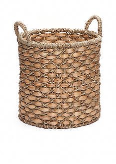 Elements 12-in. Water Hyacinth Oval Basket