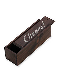 Elements 13.25-in. 'Cheers' Sliding Wood Wine Box