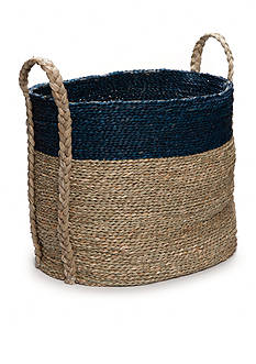 Elements 21-in. Navy Natural Seagrass Basket