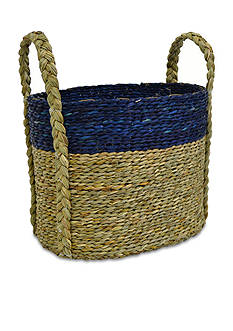 Elements 13-in. Navy Natural Basket