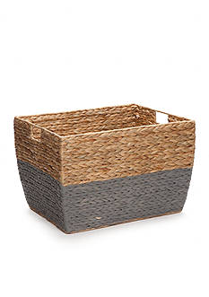 Elements 13-in. Natural Gray Seagrass Basket