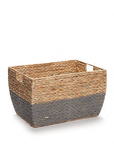Elements 11-in. Natural Gray Seagrass Basket