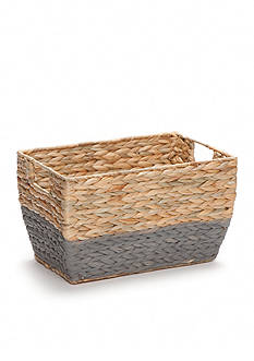Elements 8-in. Natural Gray Seagrass Basket