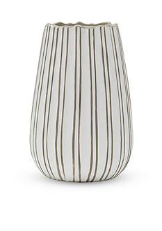 Bombay 10-in. Origami Urn Ceramic Vase