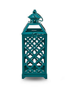 Elements 19-in. LED Metal Lantern