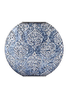 Elements 15-in. Tapestry Embossed Metal Vase