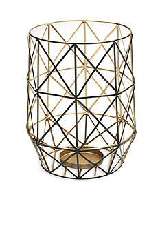 Elements 10-in. Caged Wire Pillar Holder