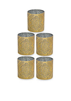 Elements 5-Piece Mini Gold Tapestry Luminaries