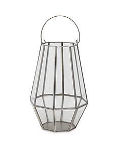 Elements 11.5-in. Silver Glass Lantern