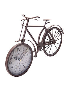 Front Porch 16-in. Rust Brown Bike Table Clock