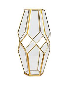 Bombay 12.5-in. Glass Metal Lantern