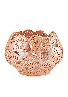 Elements 10-in. Coral Cutout Ceramic Bowl