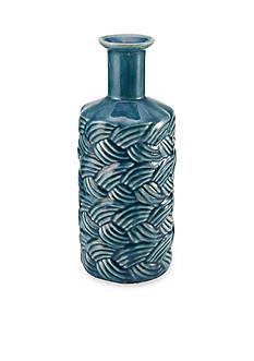 Elements 15-in. Blue Wave Texture Shoulder Ceramic Vase