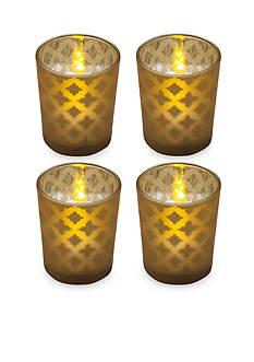 Elements 8-Piece LED Tealight and Glass Votive Set