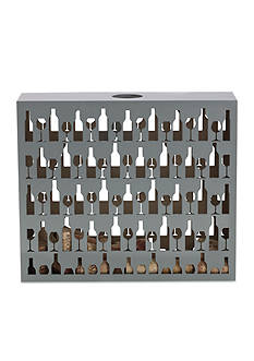Elements 12-in. Laser Wine Cork Holder