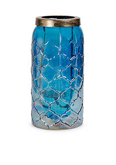 Elements 13-in. Luster Glass Lantern